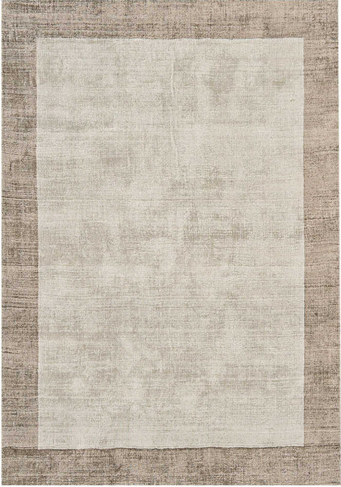 Blade Border Rug by Asiatic Carpets in Smoke/Putty Colour; a definitive stylish rug with a complimentary tonal border