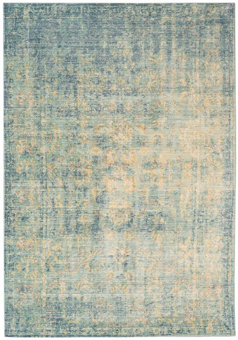 Verve Rug by Asiatic Carpets in VE08 Antique Blue Design has modern with an updated classical design