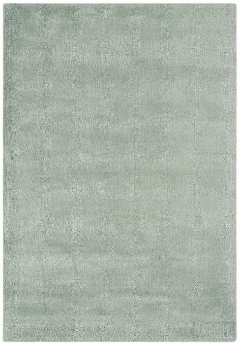 Aran Rug by Asiatic Carpets in Duck Egg Colour; luxuriously thick rug made with fine wool with viscose for a grand finish