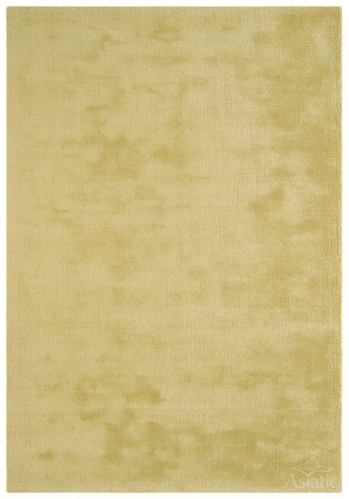 Aran Rug by Asiatic Carpets in Jasmine Yellow Colour; luxuriously thick rug made with fine wool with viscose for a grand finish