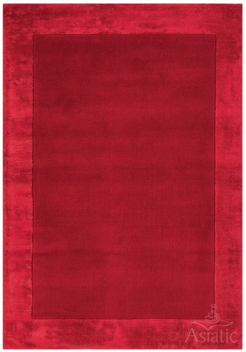 Ascot Rug by Asiatic Carpets in Red Colour; made using Wool bordered with viscose for added charisma