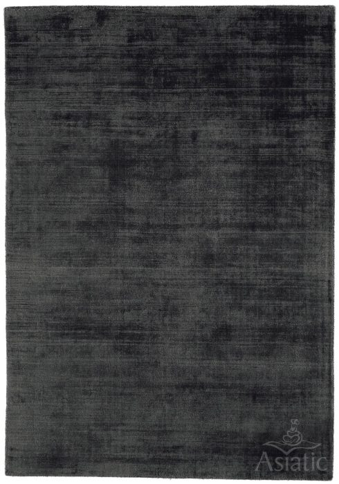Blade Rug by Asiatic Carpets in Charcoal Colour; hand sheared by artisans to create a distressed lustrous look