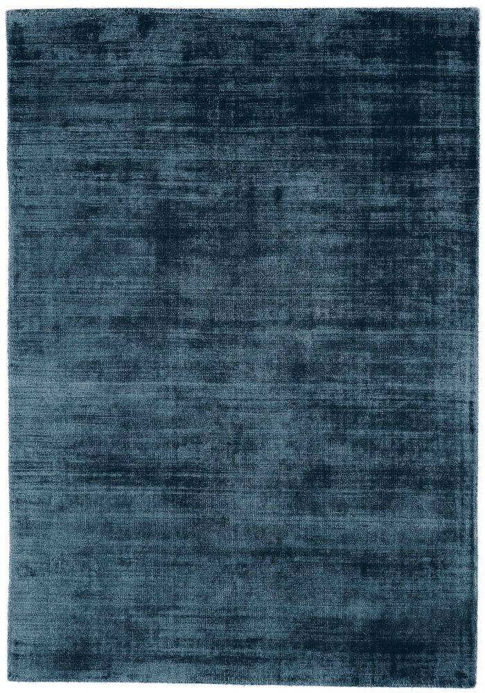Blade Rug by Asiatic Carpets in Teal Colour; hand sheared by artisans to create a distressed lustrous look