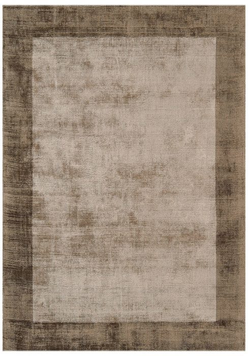 Blade Border Rug by Asiatic Carpets in Chocolate/Mocha Colour; a definitive stylish rug with a complimentary tonal border