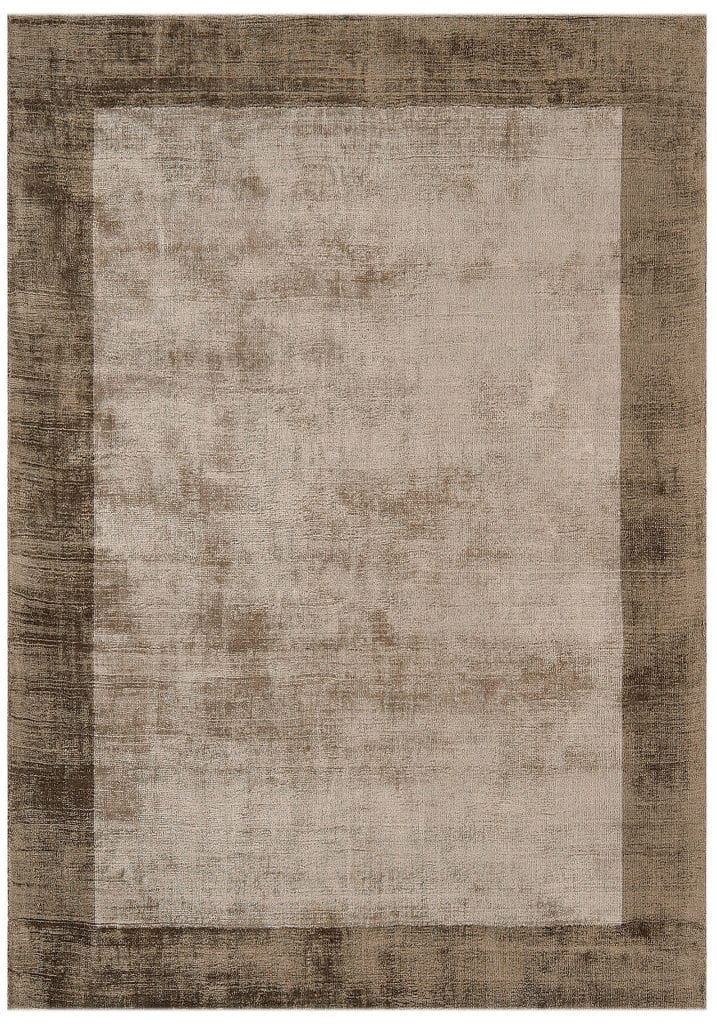 Blade Border Rug By Asiatic Carpets Colour Chocolate Mocha