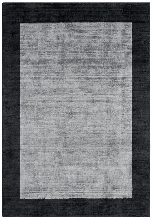 Blade Border Rug by Asiatic Carpets in Charcoal/Silver Colour; a definitive stylish rug with a complimentary tonal border