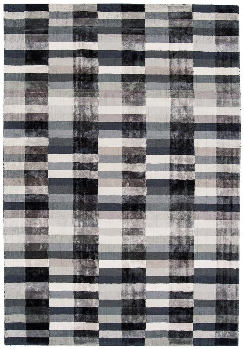 Deco Rug by Asiatic Carpets in Graphite Colour has a 100% viscose pile content. It is hand-woven in India