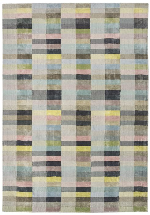 Deco Rug by Asiatic Carpets in Pastel Colour has a 100% viscose pile content. It is hand-woven in India