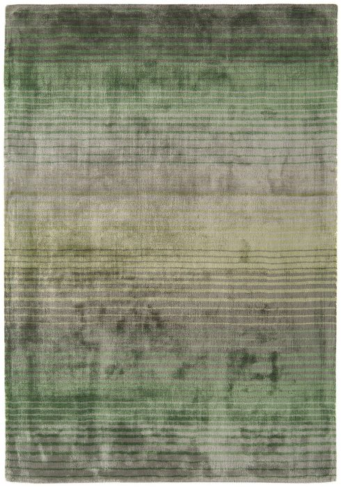 Holborn Rug by Asiatic Carpets in Green Colour has stylish horizontal stripes in lustrous colour combinations