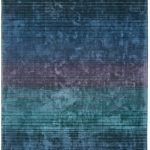 Holborn Rug by Asiatic Carpets in Indigo Colour has stylish horizontal stripes in lustrous colour combinations