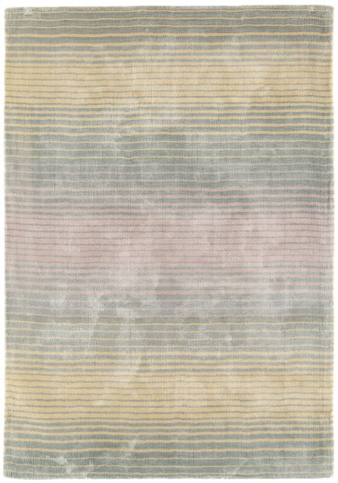 Holborn Rug by Asiatic Carpets in Pastel Colour has stylish horizontal stripes in lustrous colour combinations