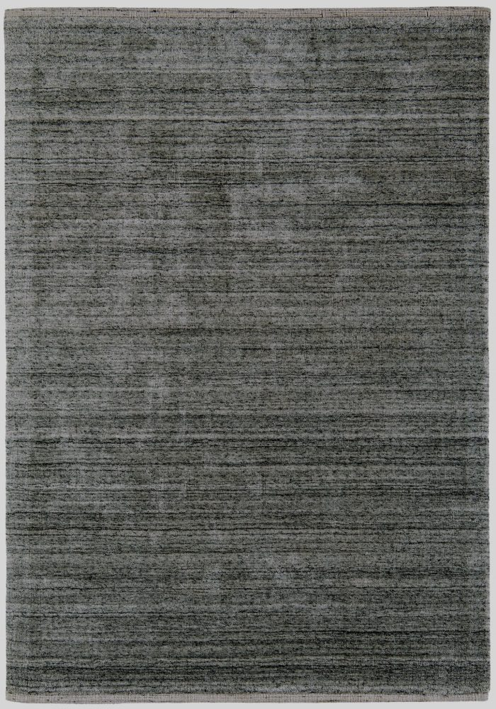 Linley Rug by Asiatic Carpets in Charcoal Colour; made with natural tones – blending undyed wools with viscose