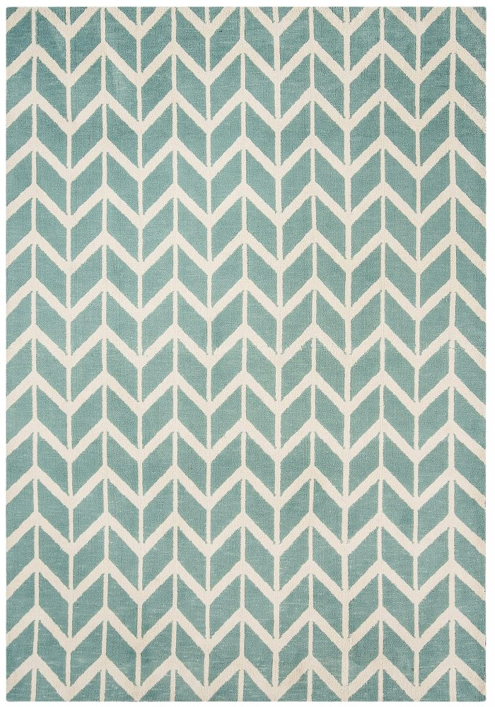 Arlo Rug by Asiatic Carpets in AR05 Chevron Blue Design; a soft weave rug with bold geometric patterns