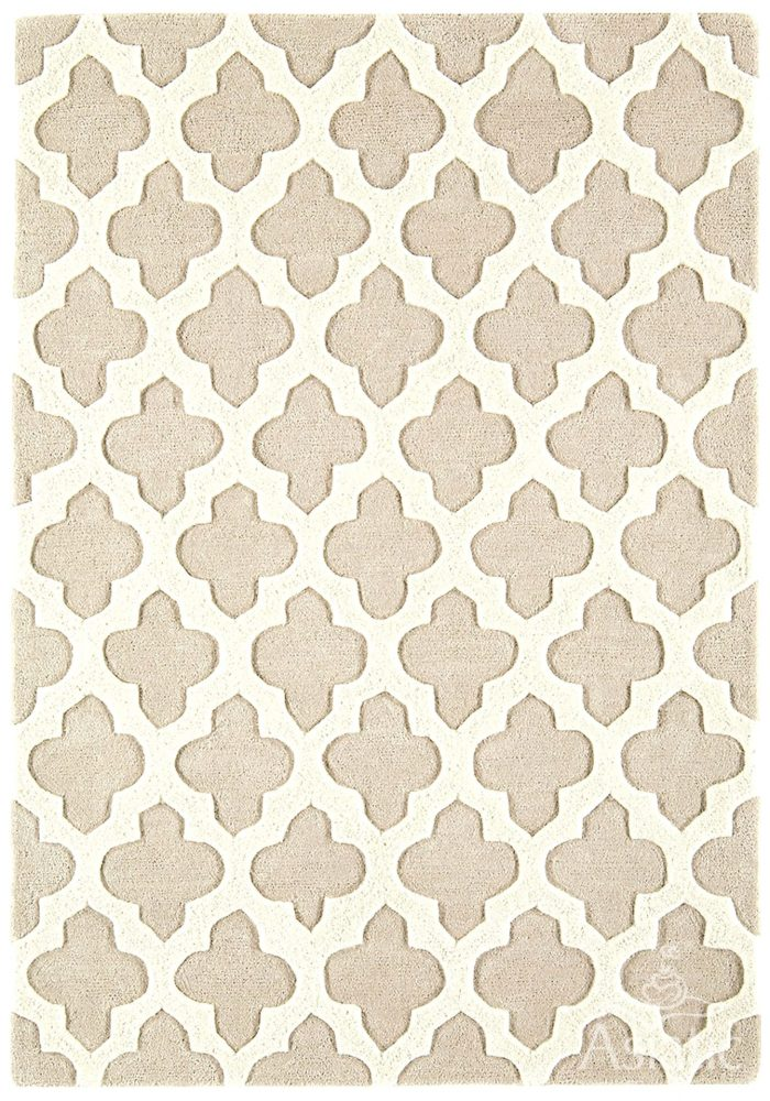 Artisan Rug by Asiatic Carpets in Sand Colour; a thick pile wool rug in a classic carved design