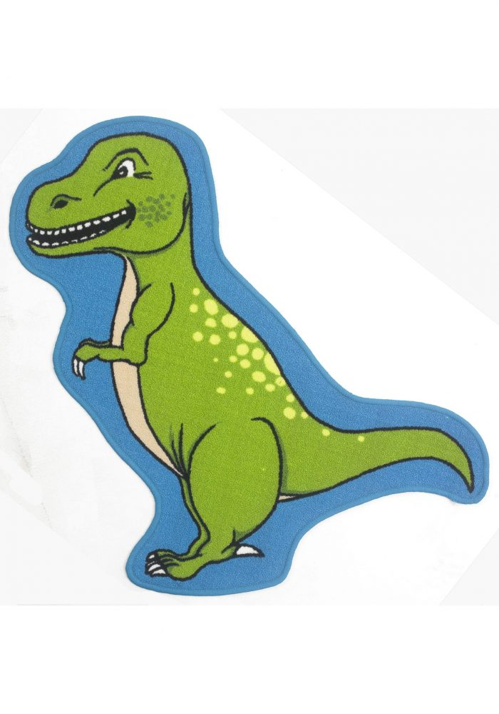 Children's Bambino Rug by Oriental Weavers in T-REX Design; Printed on 100% nylon, this mat features an anti-slip backing