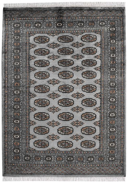 Bokhara Rug by Asiatic Carpets in Blue Colour; a hand-knotted rug, featuring the classic 'Gul' motif