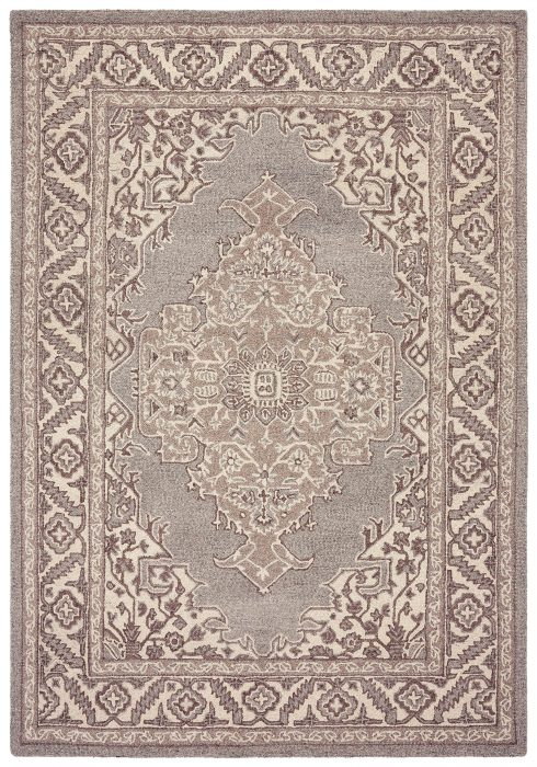 Bronte Rug by Asiatic Carpets in Natural Colour has a traditional design – a modern take on classic designs in updated tones