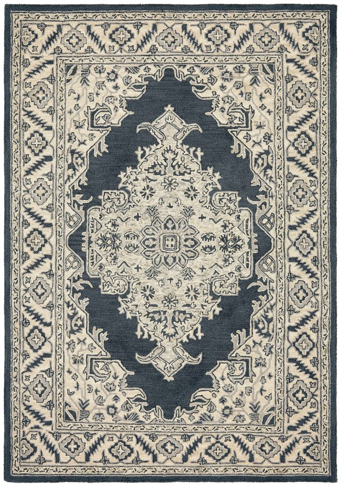Bronte Rug by Asiatic Carpets in Shadow Colour has a traditional design – a modern take on classic designs in updated tones