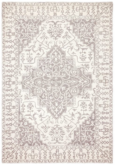 Bronte Rug by Asiatic Carpets in Smoke Colour has a traditional design – a modern take on classic designs in updated tones
