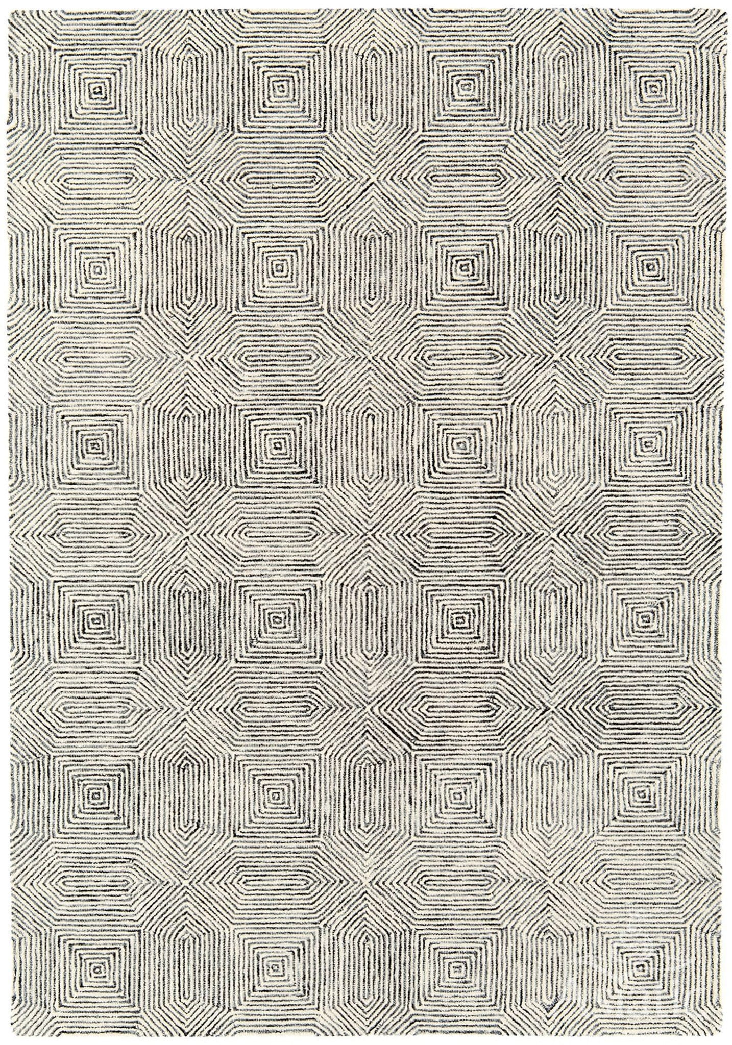 Camden Rug By Asiatic Carpets Colour Black White