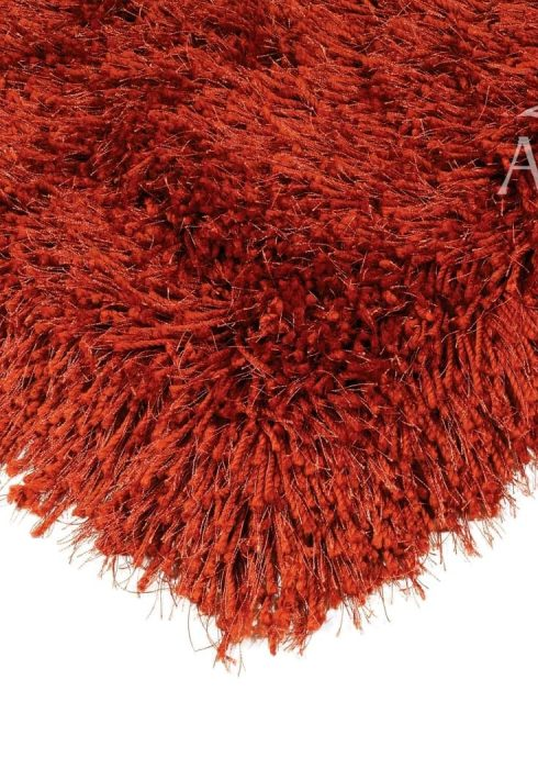 Cascade Rug by Asiatic Carpets in Paprika Colour has a relaxed style, the soft microfibre, and the shiny fine yarns