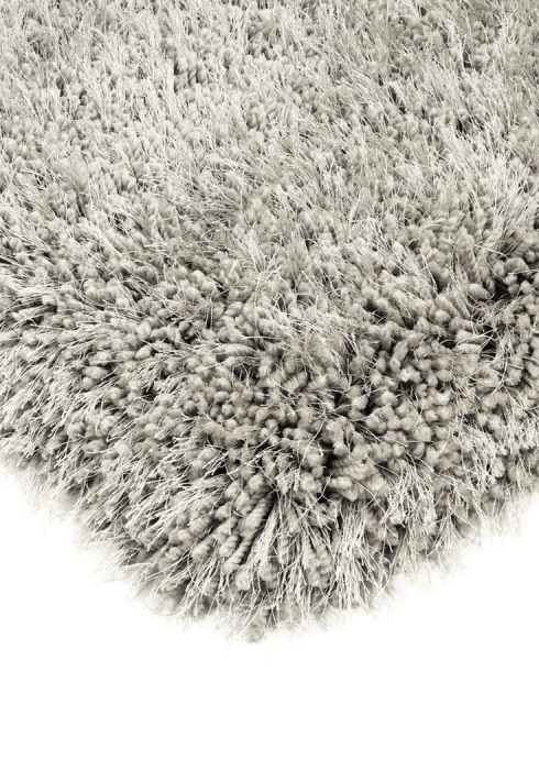 Cascade Rug by Asiatic Carpets in Silver Colour has a relaxed style, the soft microfibre, and the shiny fine yarns