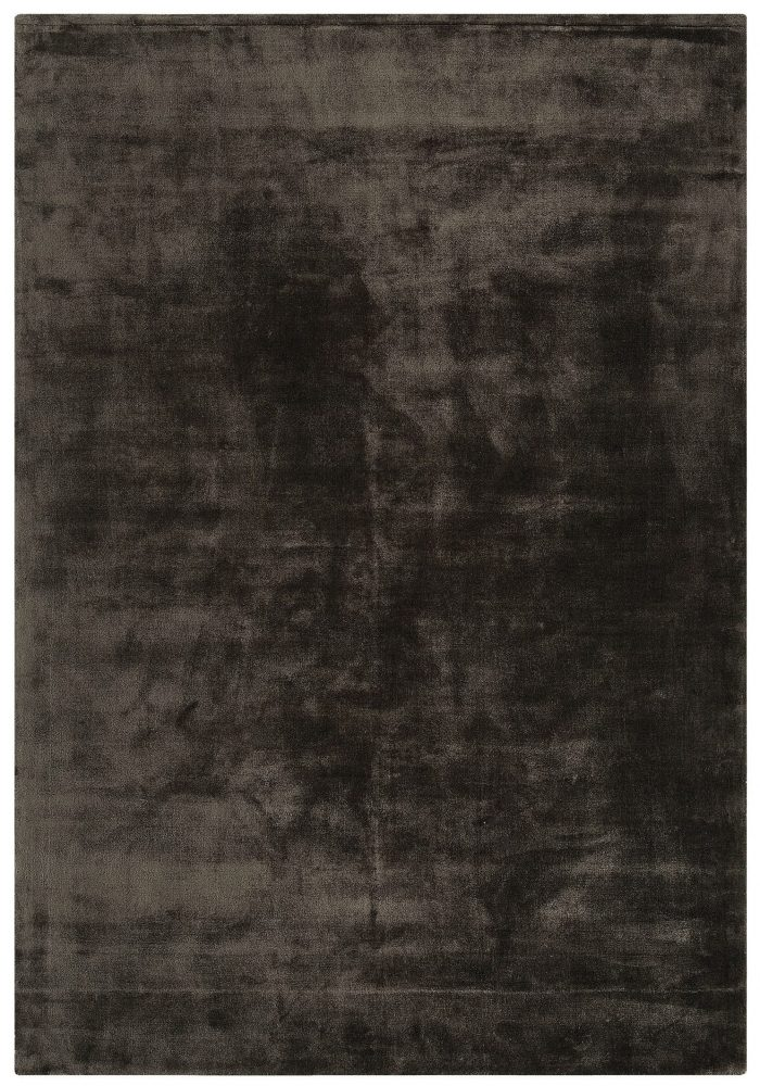 Katherine Carnaby Chrome Rug in Charcoal Colour features the finest silky smooth viscose pile in a contemporary tone