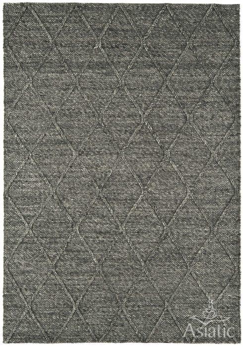 Katherine Carnaby Coast Rug in CD01 Diamond Charcoal Design; the classic coast rug with a Geometric Diamond design