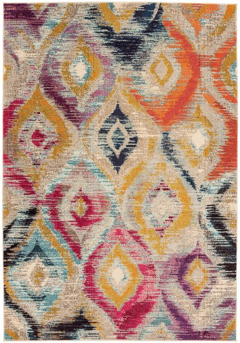 Colores Rug by Asiatic Carpets in COL08 Design; a fun rug in multi-coloured design which is practical and durable