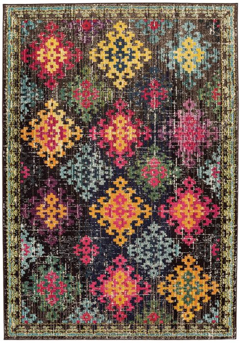Colores Rug by Asiatic Carpets in COL10 Design; a fun rug in multi-coloured design which is practical and durable