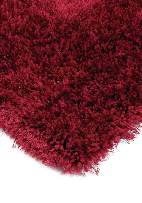Diva Rug by Asiatic Carpets in Red Colour; a soft touch polyester rug with a fine sparkle yarn