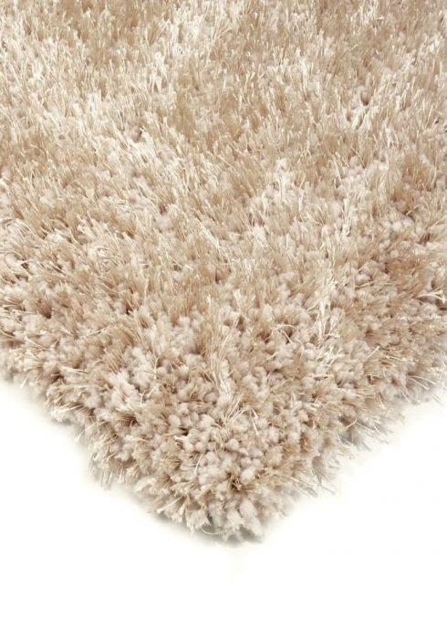 Diva Rug by Asiatic Carpets in Sand Colour; a soft touch polyester rug with a fine sparkle yarn