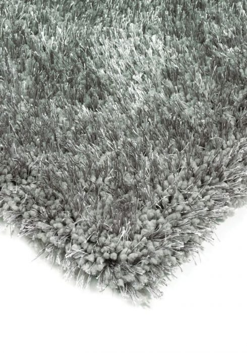 Diva Rug by Asiatic Carpets in Silver Colour; a soft touch polyester rug with a fine sparkle yarn