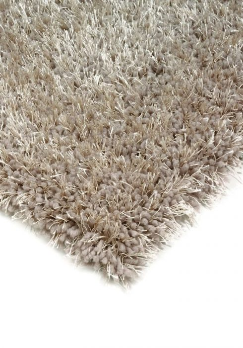 Diva Rug by Asiatic Carpets in Stone Colour; a soft touch polyester rug with a fine sparkle yarn