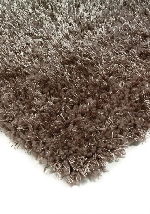 Diva Rug by Asiatic Carpets in Taupe Colour; a soft touch polyester rug with a fine sparkle yarn