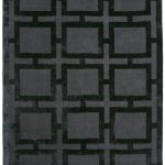 Katherine Carnaby Eaton Rug by Asiatic Carpets in Black Colour; a luxury viscose geometric design rug