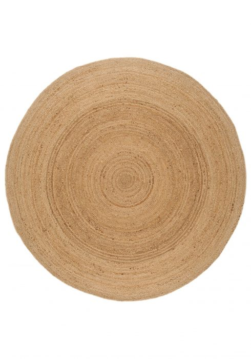 Faro Rug by Asiatic Carpets in Natural Colour; a simple circular rug which is practical and reversible too