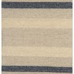 Fields Rug by Asiatic Carpets in Ebony Colour; a wool, cotton and viscose flatweave rug with a fashion colour stripe
