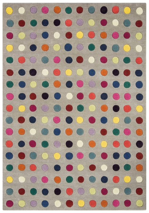 Funk Rug by Asiatic Carpets in 07 Spotty Design; a multi-coloured masterpiece which is made in thick NZ blend wool