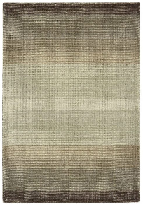 Hays Rug by Asiatic Carpets in Brown Colour with shorn stripes; a tonal graduated rug with a low pile