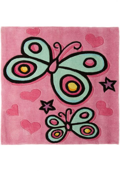 Kiddy Butterfly Pink WCO Rug