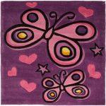 Kiddy Butterfly Purple WCO Rug