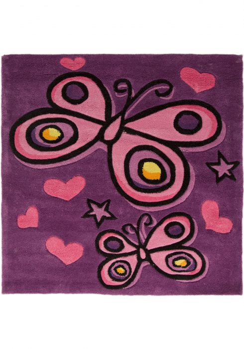 Kiddy Butterfly Purple WCO Rug