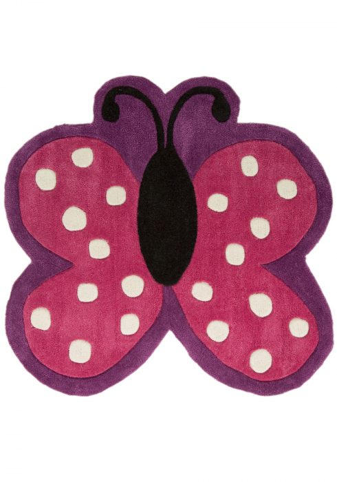 Kiddy Play Polka Butterfly WCO Rug