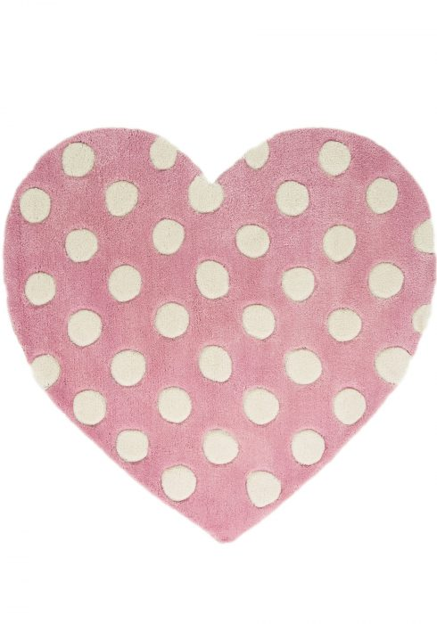 Kiddy Play Polka Heart WCO Rug