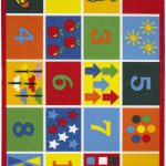 Children's Playtime Rug by Oriental Weavers in Numbers Design; Printed on 100% nylon, this mat features an anti-slip backing