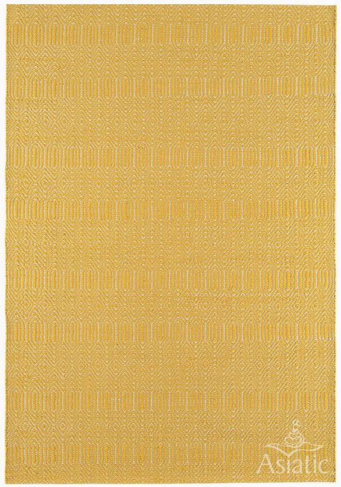 Sloan Rug by Asiatic Carpets in Mustard Colour with modern geometric design in a cool up-to-date palette
