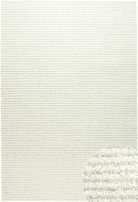 Spectrum Rug by Mastercraft Rugs in 0003/6666 White Design has a superbly finished woven shaggy with a shiny luxurious pile