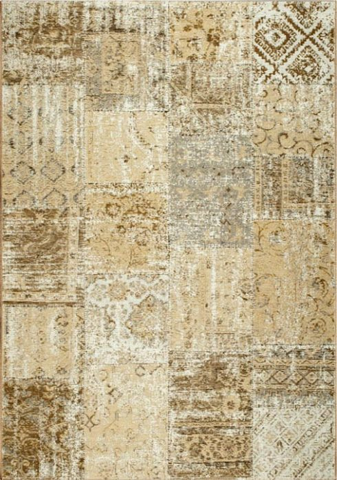 Amalfi Rug by Mastercraft Rugs in 094 0010 2001 Sand Design; made up of 40% viscose, 38% cotton chenille, and 22% polyester