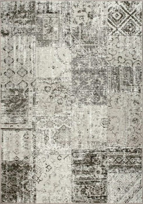 Amalfi Rug by Mastercraft Rugs in 094 0010 2002 Taupe Design; made up of 40% viscose, 38% cotton chenille, and 22% polyester